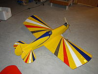 Name: P5010005.JPG Views: 8 Size: 680.5 KB Description: This a oversized Sport 40, added 10-inches to the wing , 2-inches to the nose moment and 3.5-inches to the tail moment Powered by YS 91 Supercharged 4-stroke