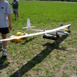 This 5-meter wingspan glider was brought by the A&J Hobbies Store team of Arden Zhang and Jack Humphreys of Unionville, Ontario