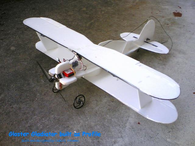 Gloster Gladiator with 700mm wingspan