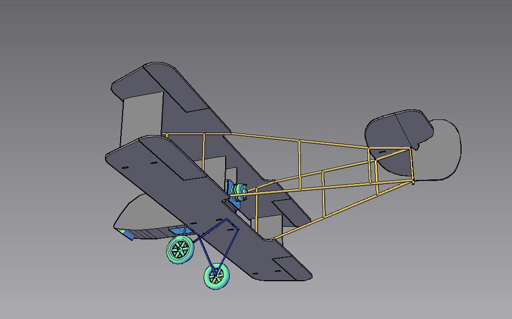 Depron DH-2 (picture of 3D model)