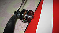 Name: Pico Twin Motor Mount.jpg Views: 54 Size: 252.0 KB Description: Wood motor mount glued right behind the carbon fiber wing rod...feels really solid.