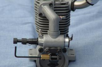 The rear of the carburetor, showing the new offset intake manifold that centers the carburetor on the engine.