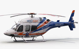 """BLACK FRIDAY 50% OFF 700 Size SuperScale Bell 429 """"Mercy Flight"""" New in the box!!!"""