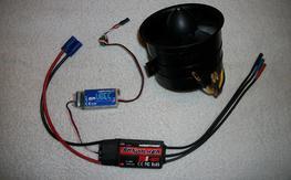 6S version Taft 90mm Fan, motor, esc and bec (new) (RTF)