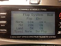 Name: DX8 (19).jpg Views: 8 Size: 101.7 KB Description: FLAP SYSTEM screen AFTER you change the INH to FLAP (switch)