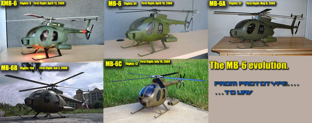 This is a brief summary of all the revisions the MB-6 airframe has been thru.