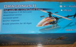 Dragonus II heli w/spare frame and blades