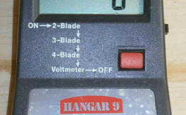 Hangar 9 DVT volt/rpm tester