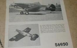 Vintage Fliteglas P-40F kit, complete and perfect