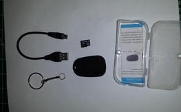 Key chain cam with micro SD