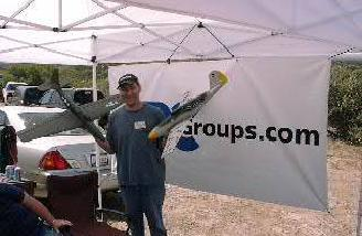 Brandon Monte�s CSD Aircobra (37oz) and CSD ME-109 (57oz) used Hitec gear and both needed a maiden flight last I heard!