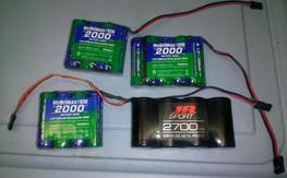 Big RX batteries. Hydrimax and JR