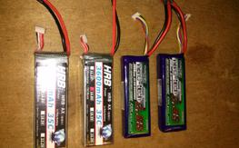 4x 4 cell lipos with Deans T