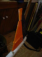 Name: DSC00104.JPG Views: 17 Size: 344.7 KB Description: Broken rudder. It looks like a failed glue joint right at the balance tab area. should be easy to repair.