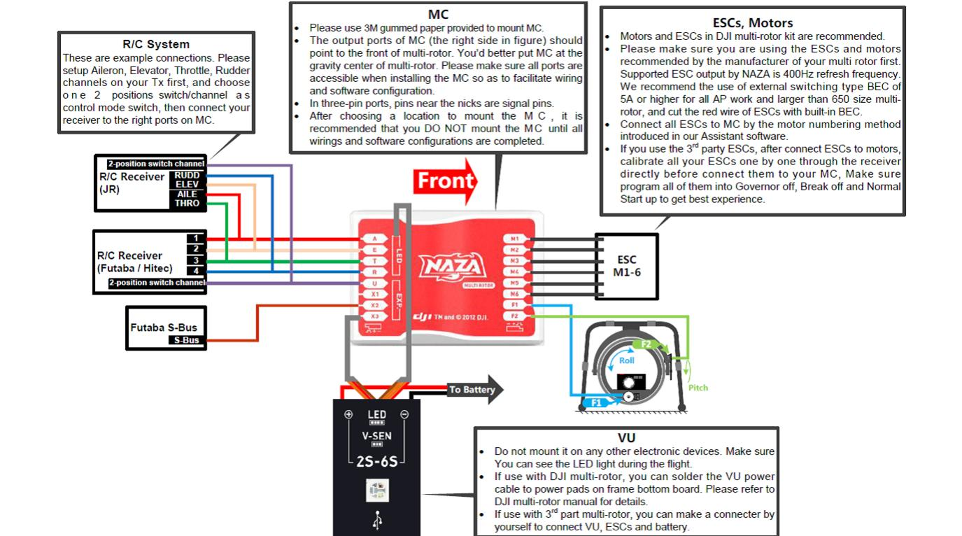 Naza Osd Wiring Diagram Free For You Tarot 2d Gimbal On How To Read Electronics Schematic Lite Honda Multirotor V2
