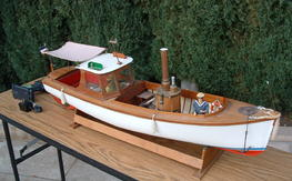 1905 Louise Steam Launch Boat (with steam engine)(built)