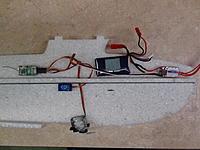 Name: 008.jpg Views: 87 Size: 677.5 KB Description: Cut a hole for servo wires to pass through center bulkhead.
