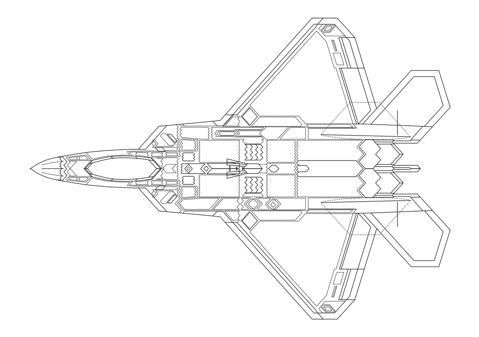 f 22 raptor coloring pages - photo #28
