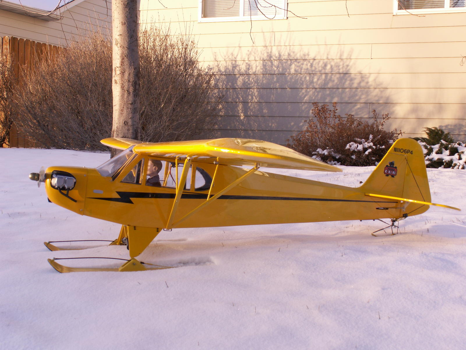 This is my Old Goldberg cub, I don't get to fly it as much as I'd like but it's a fun plane