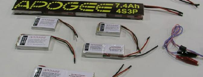 Apogee Lipo Packs on Display