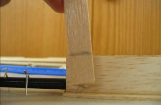 Note the pencil mark indicating where to cut the TE.