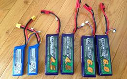 Many 3S LiPo batteries.  Quality stuff, lightly used.