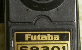New unused Futaba Coreless Dual Ball Bearing S9301 Servo w 3 Arms, Grommets & Brass