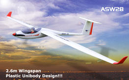 ASW28 2.6m/103'' Unibody Scale RC Glider (759-1) PNP