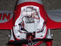Name: Gee Bee_Plush 6A ESC_1811-2900KV motor_041413.JPG Views: 17 Size: 270.6 KB Description: Turnigy Plush 6A ESC and 1811-2900KV motor installed.