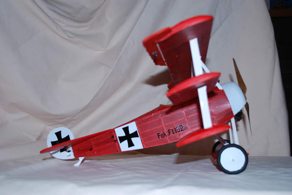 Guillows Fokker DR2, this model made it on to the cover of Guillows 2010 catologue, which was a great feeling :-)