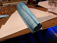 Name: 20140606_205812.jpg Views: 29 Size: 452.2 KB Description: Main wing is 80 mm wider than it should be in scale. Even the canard is a little wider.
