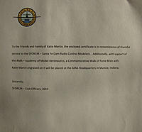 Name: Brick Letter.jpg Views: 102 Size: 74.9 KB Description: Touching letter from the officers of the Santa Fe RC Flyers