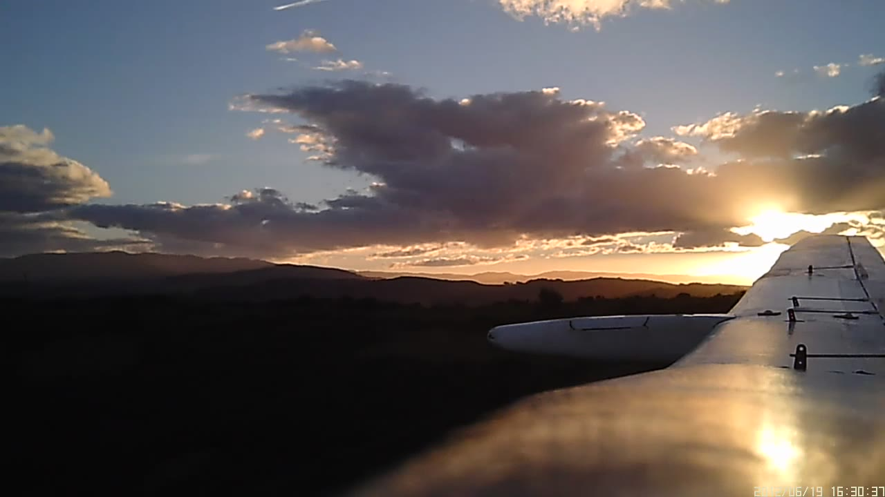 Some sunset flying.