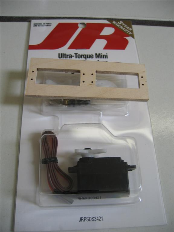 The kit also has a pre-cut servo tray made for DS3421 JR servos.