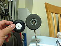 Name: DSC03991.jpg Views: 201 Size: 55.7 KB Description: Dubro 2.5 in. wheels, I drilled it with 5.6 mm size to fit into the shaft.
