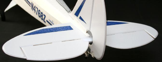 Align the tail surfaces with the fuse.