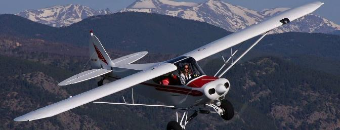 Scenic back-country flying in a classic Super Cub