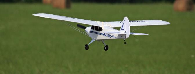 The Super Cub is so stable.  It makes low and slow flybys a joy to watch.