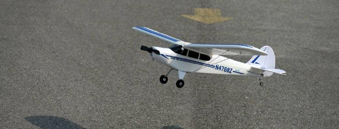 Adding some throttle and getting that nose up higher will reduce the bouncing tendency on landings.