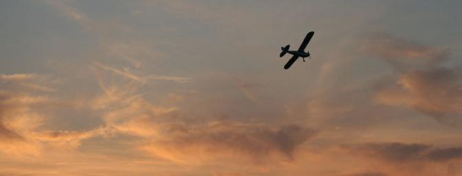 The Super Cub enjoying the last few minutes of daylight.  What a view!