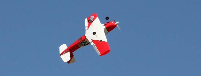 High rates on the ailerons provide plenty of roll authority for sport aerobatics.