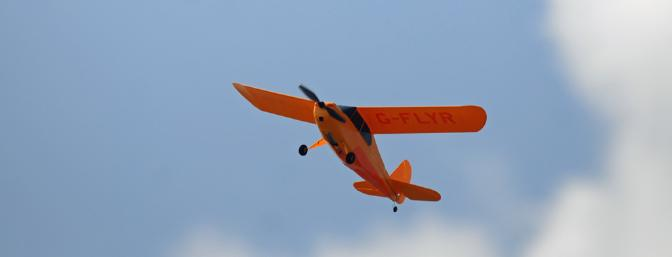 Yes, you can actually fly the Champ up over your head, but it is much more fun on those low and slow fly-bys.