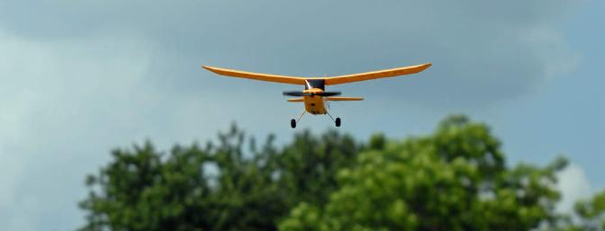 The Champ looks so realistic as it glides down final approach to landing.