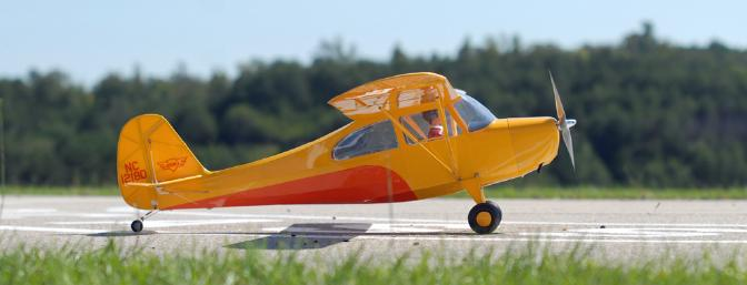 The profile of the E-flite Champ is unmistakably Champ!