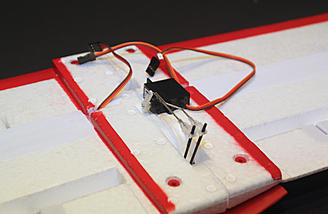 Overview of the flap servo installation.  Take your time here and get it right.