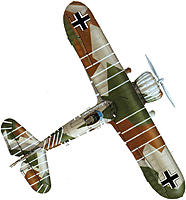 Name: Plan view Splinter scheme Hakenkreuze..jpg Views: 40 Size: 79.9 KB Description: Excellent top-view of the scheme.  No 'Red Banner' on tail.  Curious white lines unaccounted for.  Note the grey paint section, port main wing-tip, immediately to the left of the Balkenkreuze - it should be green.