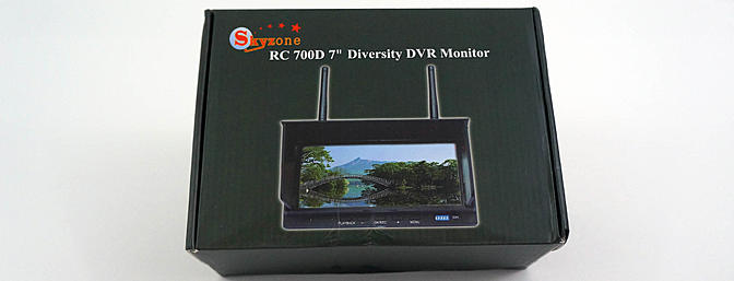 "SkyZone RC 700D 7"" Diversity DVR Monitor Review"