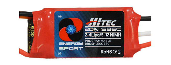 Hitec's New Energy Sport Programmable Brushless ESC's