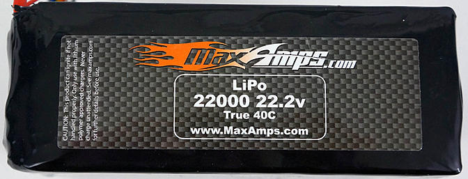MaxAmps 6S 22000mAH Lipo Review