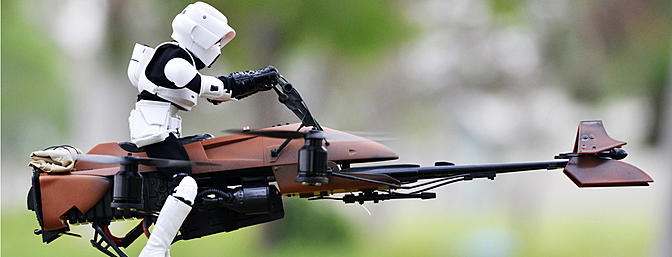 Imperial Speeder Bike Quadcopter